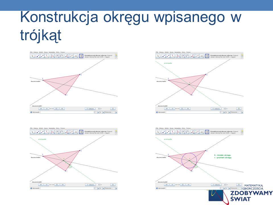 Konstrukcja okręgu wpisanego w trójkąt