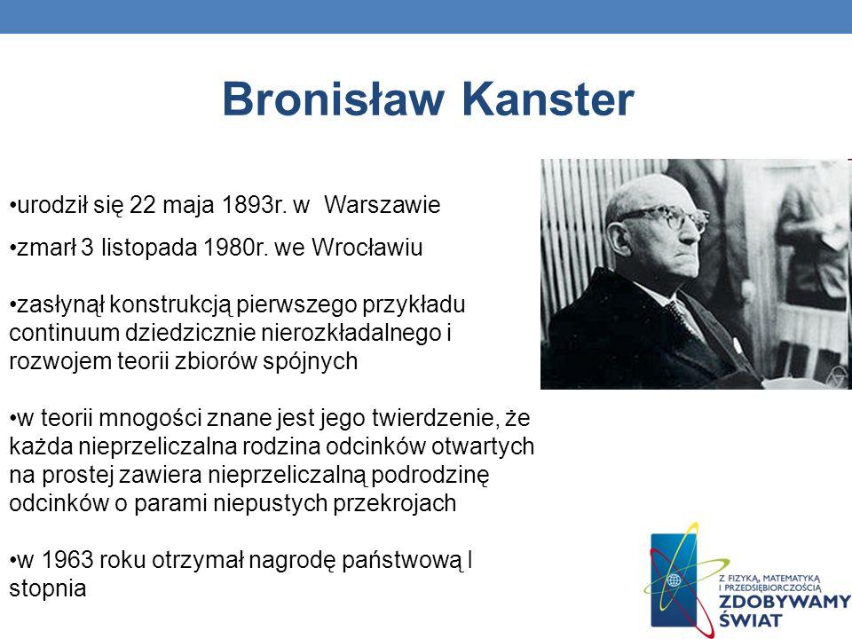 Bronisław Kanster urodził się 22 maja 1893r. w Warszawie