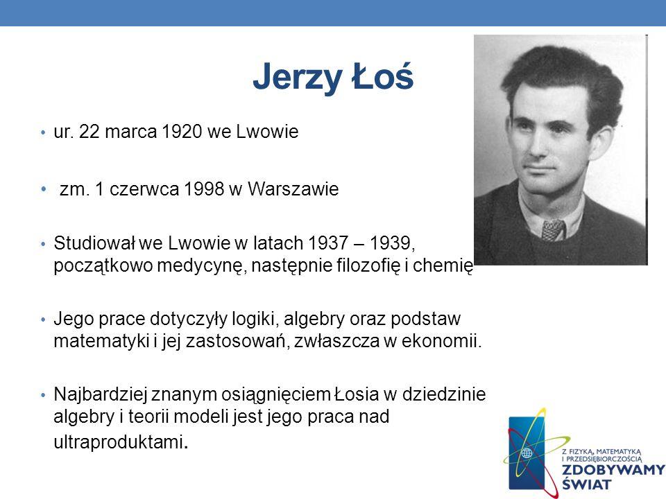Jerzy Łoś zm. 1 czerwca 1998 w Warszawie ur. 22 marca 1920 we Lwowie