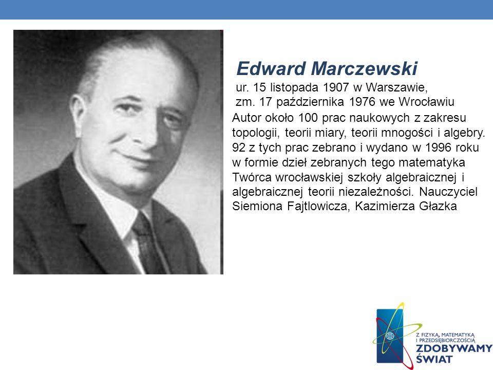 Edward Marczewski ur. 15 listopada 1907 w Warszawie, zm