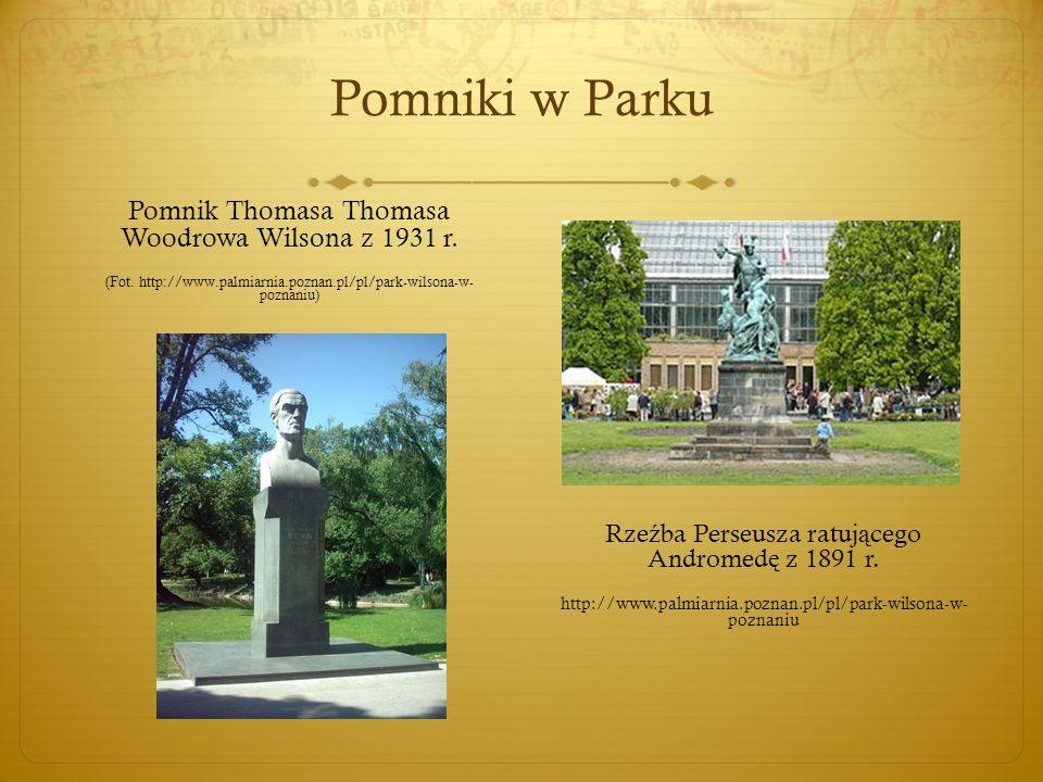 Pomniki w Parku Pomnik Thomasa Thomasa Woodrowa Wilsona z 1931 r.