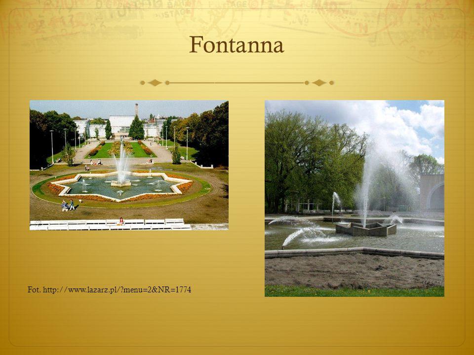 Fontanna Fot. http://www.lazarz.pl/ menu=2&NR=1774