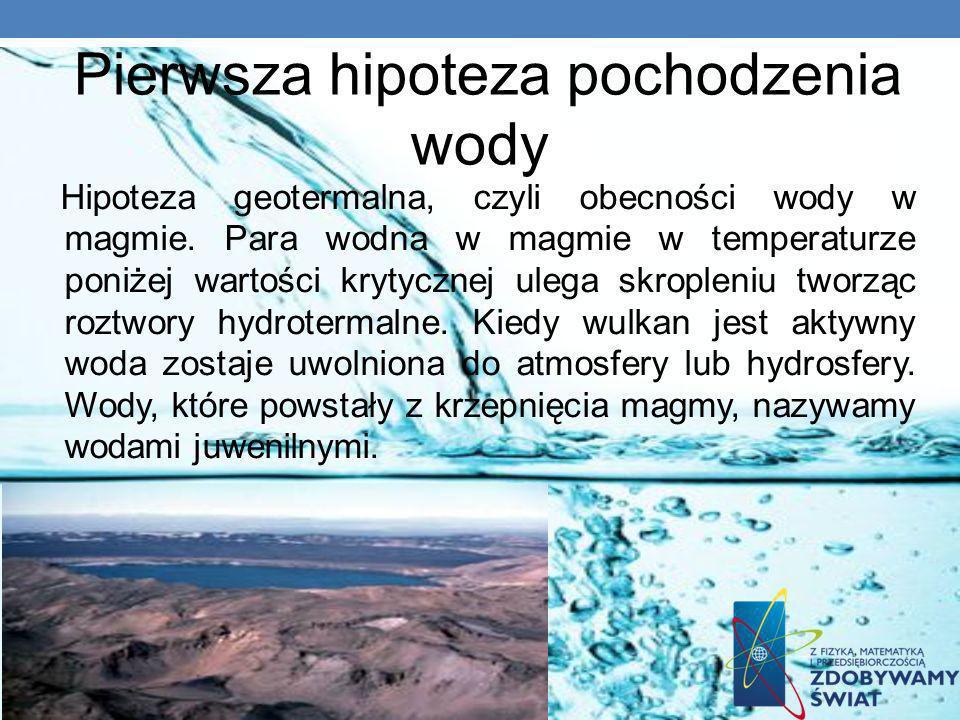 Pierwsza hipoteza pochodzenia wody