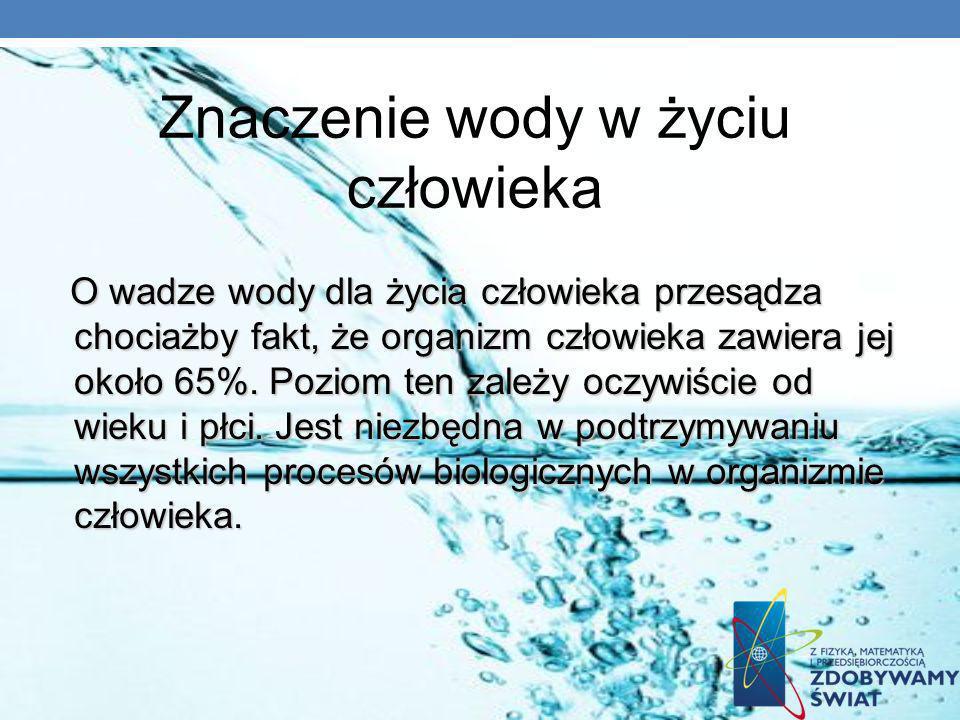 Znaczenie wody w życiu człowieka