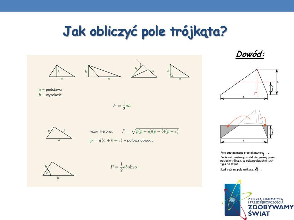 Jak obliczyć pole trójkąta