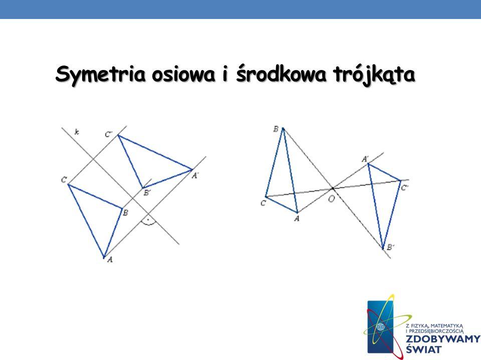 Symetria osiowa i środkowa trójkąta