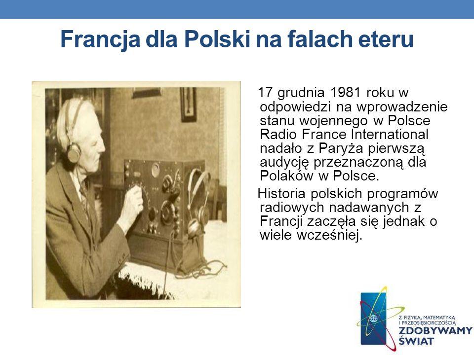 Francja dla Polski na falach eteru