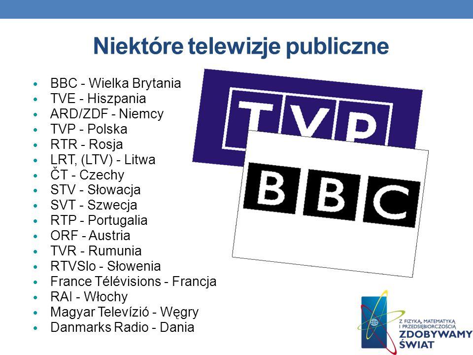 Niektóre telewizje publiczne