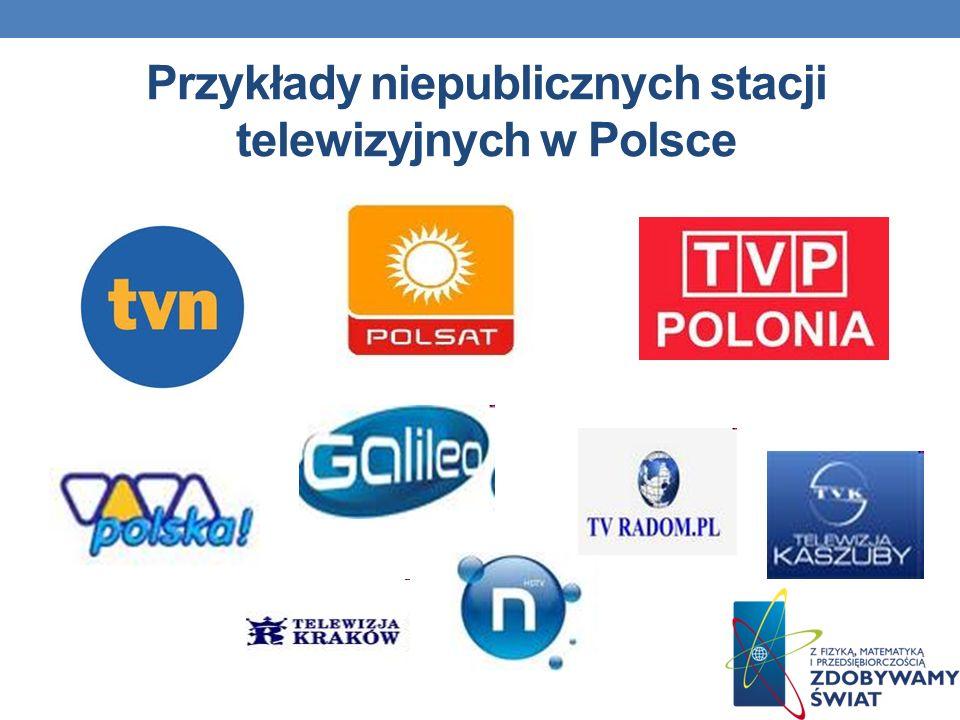 Przykłady niepublicznych stacji telewizyjnych w Polsce