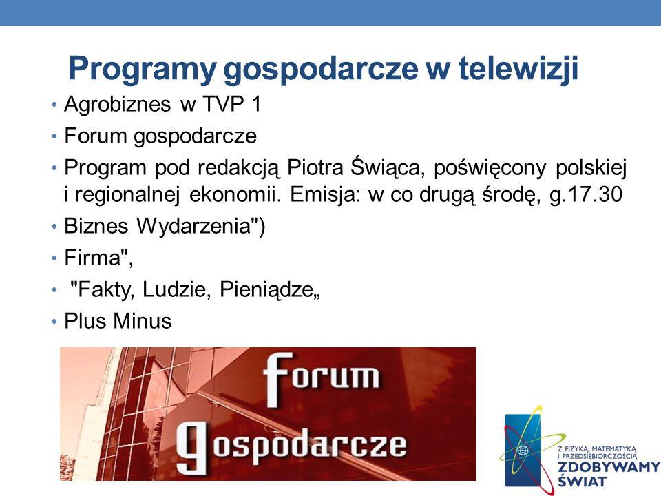 Programy gospodarcze w telewizji