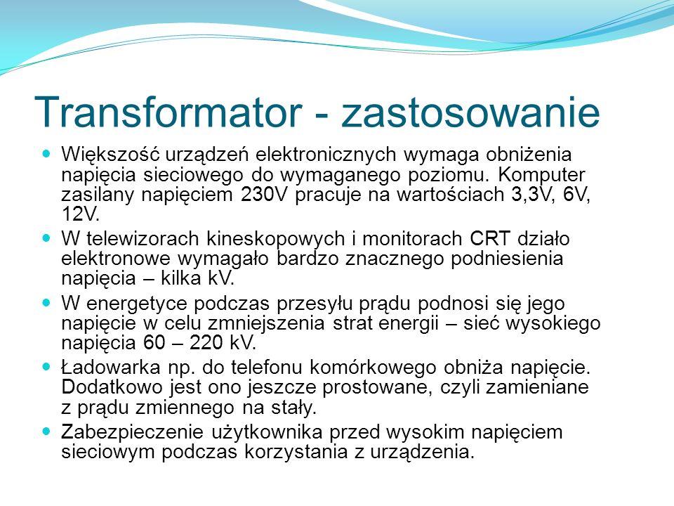 Transformator - zastosowanie