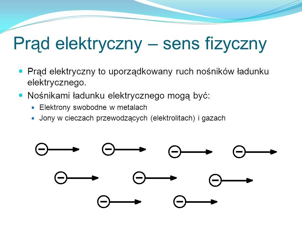 Prąd elektryczny – sens fizyczny