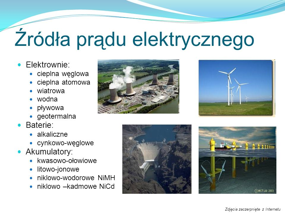 Źródła prądu elektrycznego