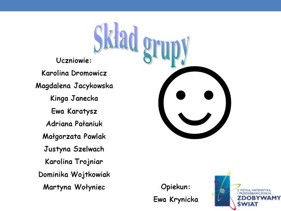 ☺ Skład grupy Uczniowie: Karolina Dromowicz Magdalena Jacykowska