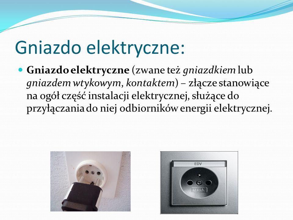 Gniazdo elektryczne: