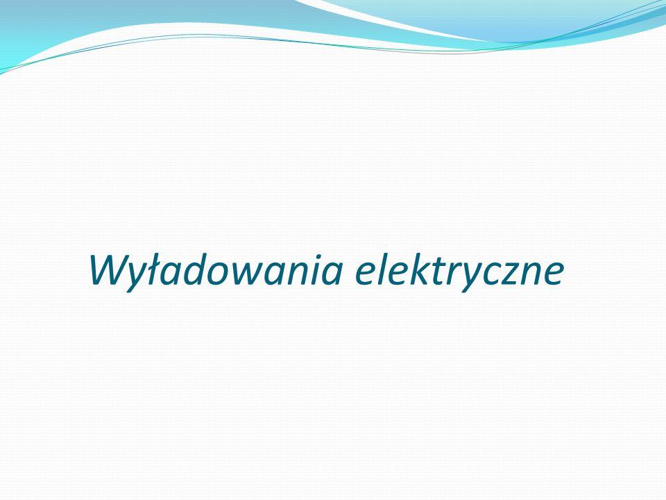 Wyładowania elektryczne