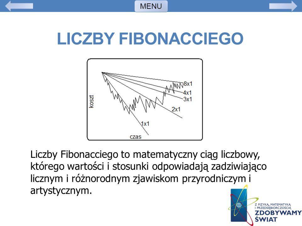 MENU Liczby fibonacciego.