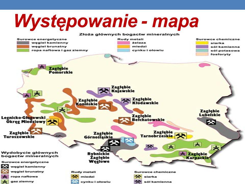 Występowanie - mapa
