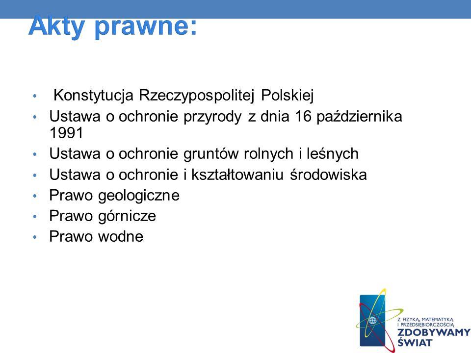 Akty prawne: Konstytucja Rzeczypospolitej Polskiej