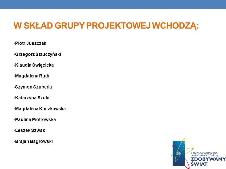 W skład grupy projektowej wchodzą: