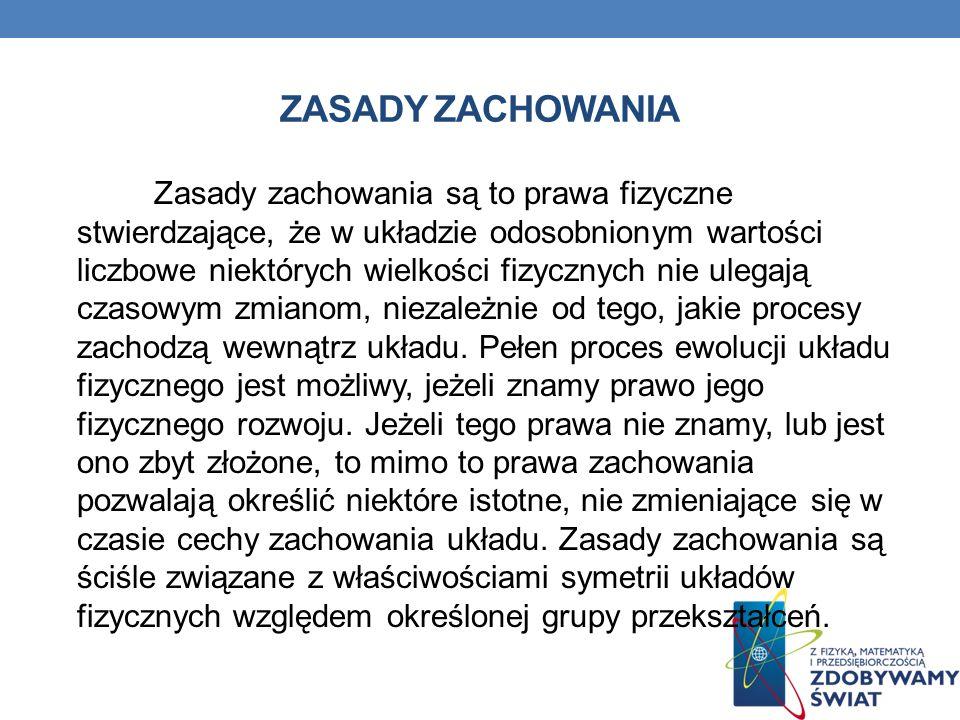 ZASADY ZACHOWANIA
