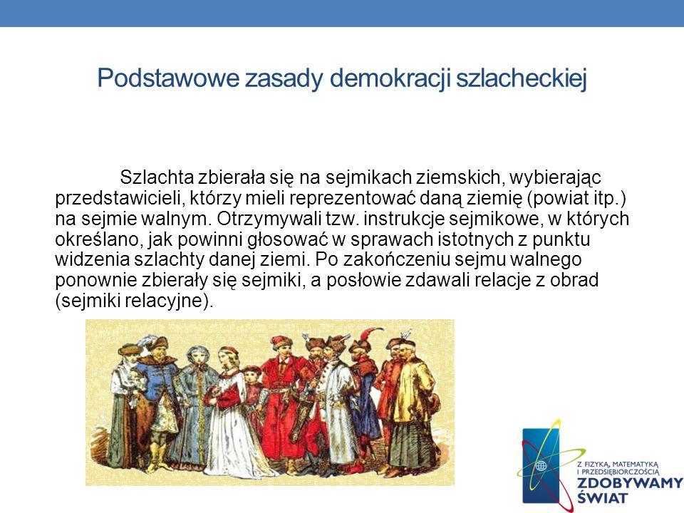 Podstawowe zasady demokracji szlacheckiej