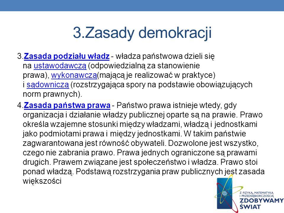 3.Zasady demokracji