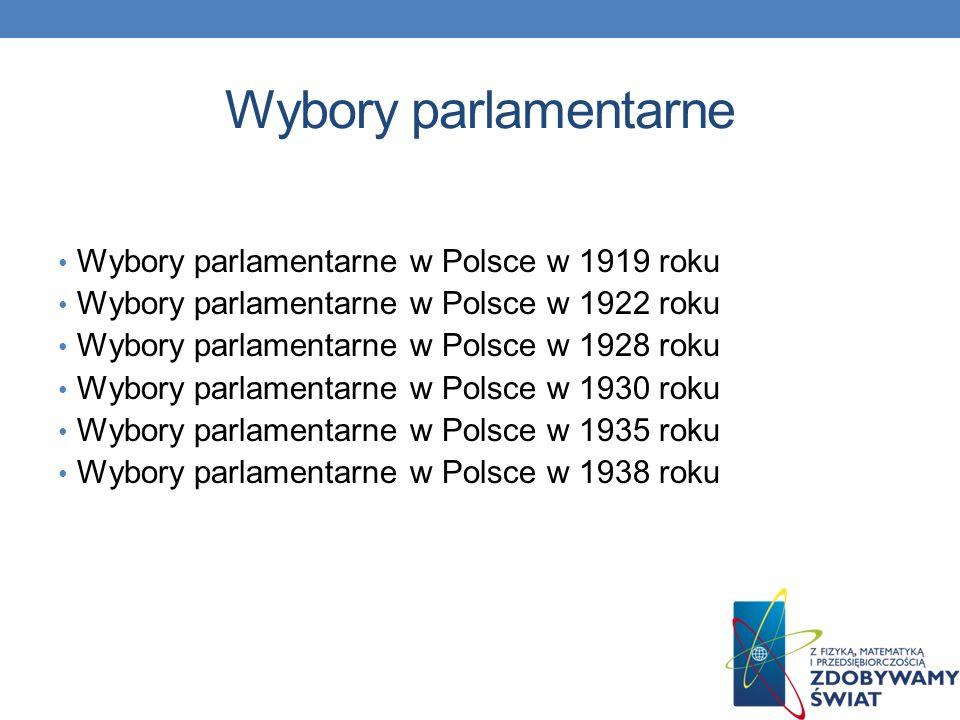 Wybory parlamentarne Wybory parlamentarne w Polsce w 1919 roku