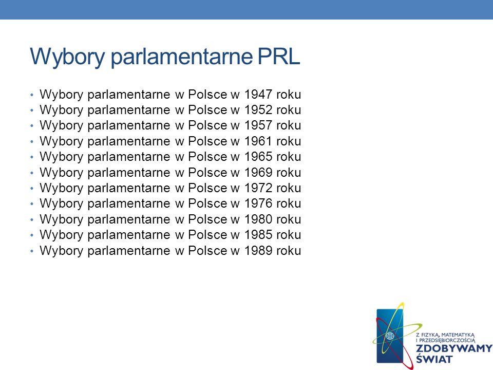 Wybory parlamentarne PRL