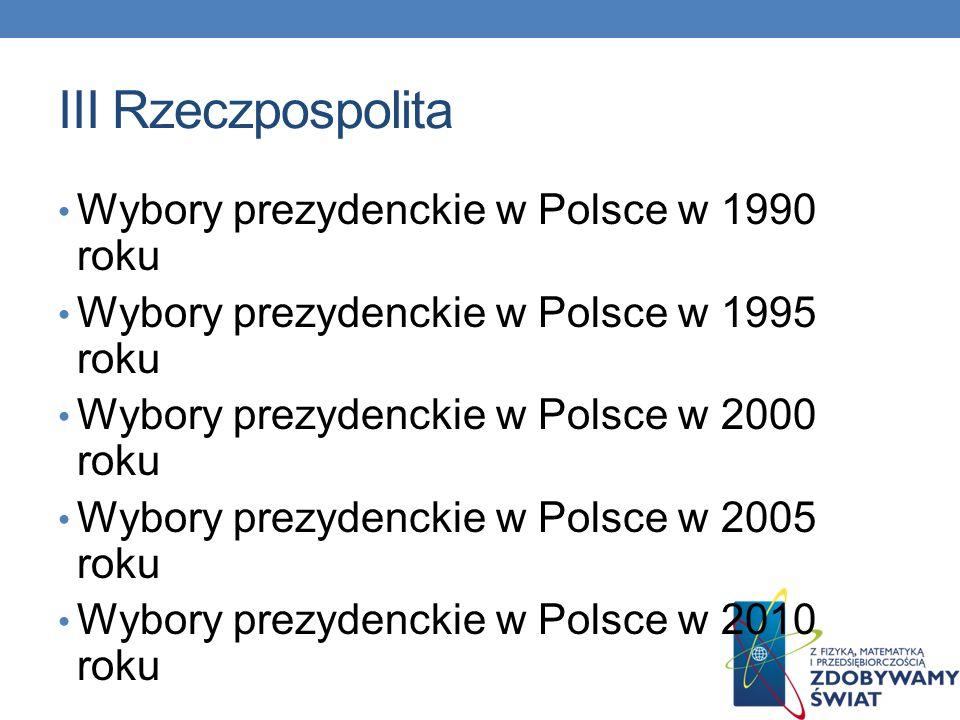 III Rzeczpospolita Wybory prezydenckie w Polsce w 1990 roku