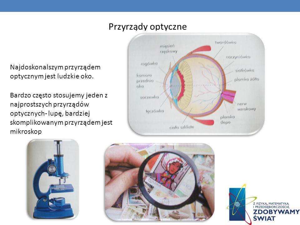 Przyrządy optyczneNajdoskonalszym przyrządem optycznym jest ludzkie oko.