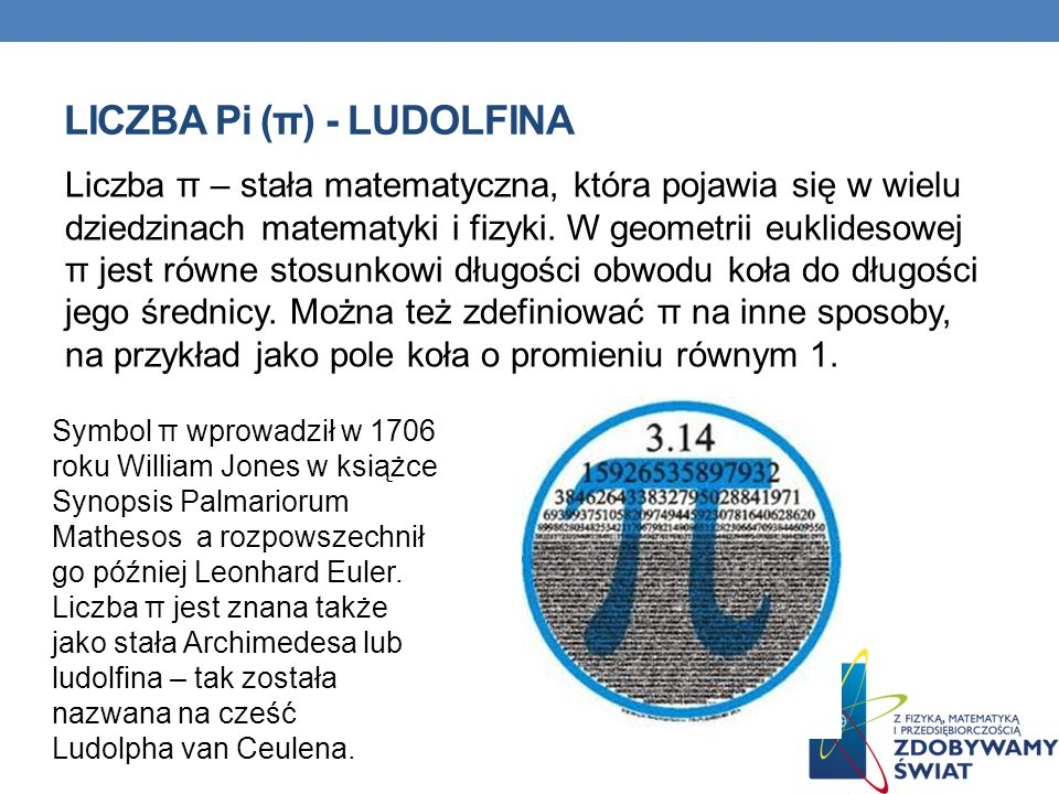 LICZBA Pi (π) - LUDOLFINA