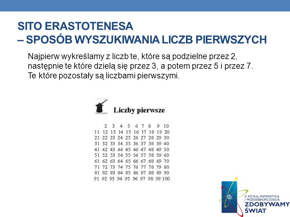 Sito Erastotenesa – Sposób Wyszukiwania Liczb pierwszych