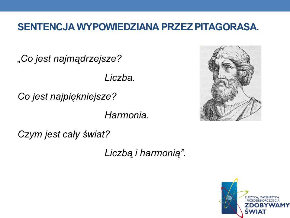 sentencja wypowiedziana przez Pitagorasa.