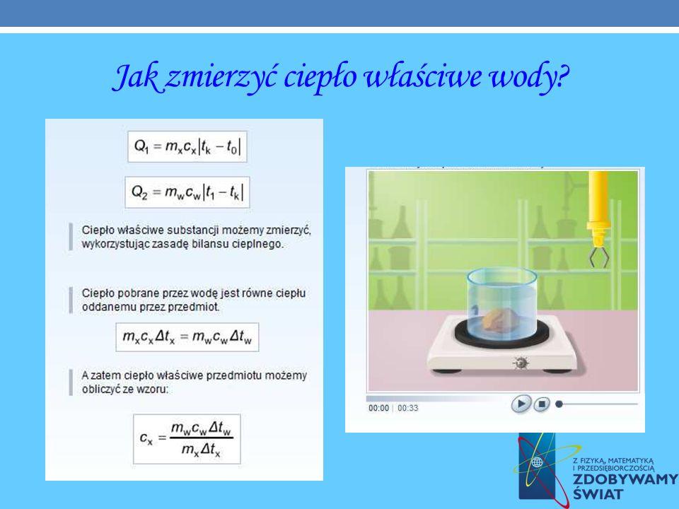 Jak zmierzyć ciepło właściwe wody