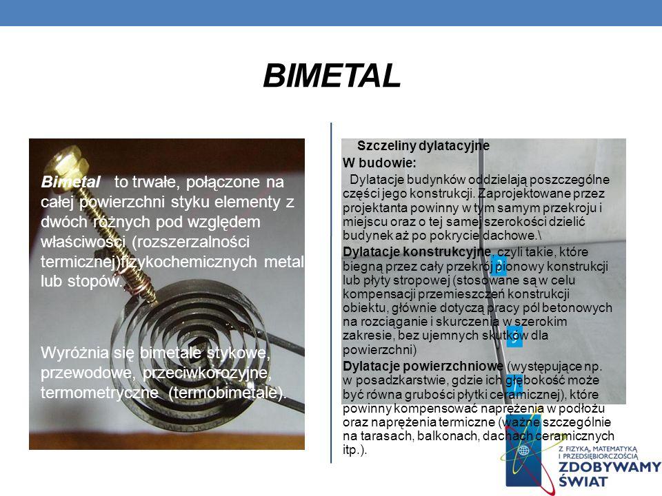 Bimetal Szczeliny dylatacyjne. W budowie: