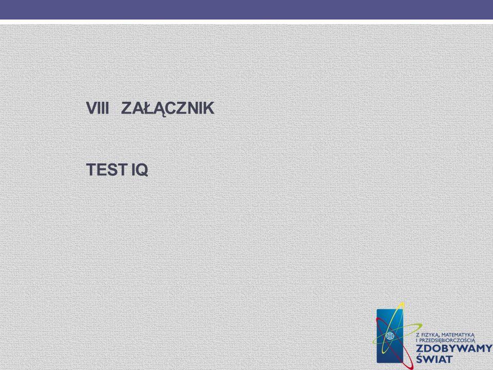 Viii ZaŁĄcznik Test IQ