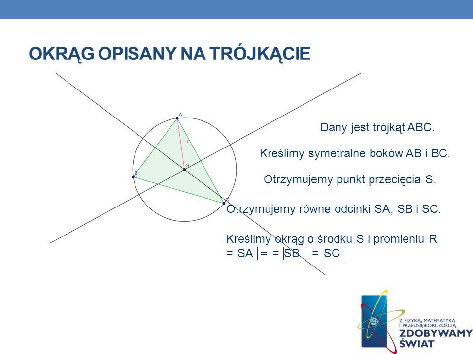 Okrąg opisany na trójkącie