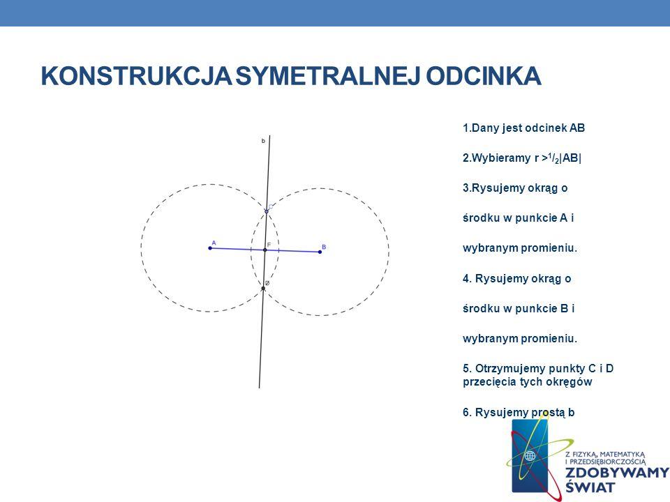 Konstrukcja symetralnej odcinka