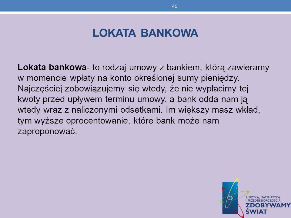 LOKATA BANKOWA