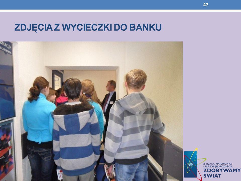 Zdjęcia z wycieczki do banku