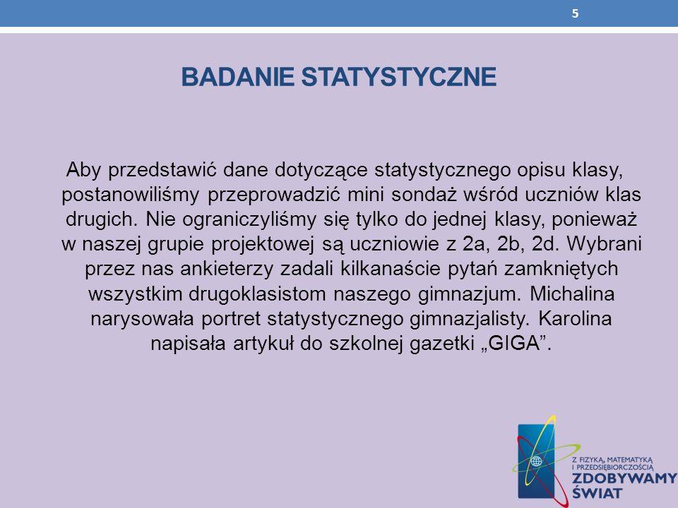 BADANIE STATYSTYCZNE