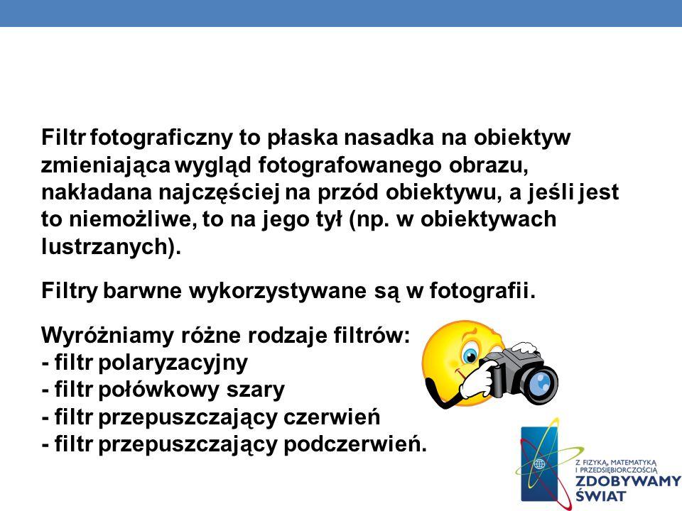 Czym jest filtr fotograficzny