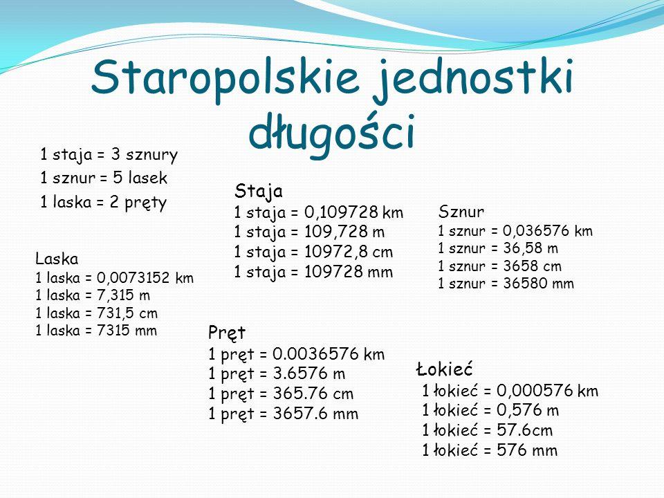 Staropolskie jednostki długości