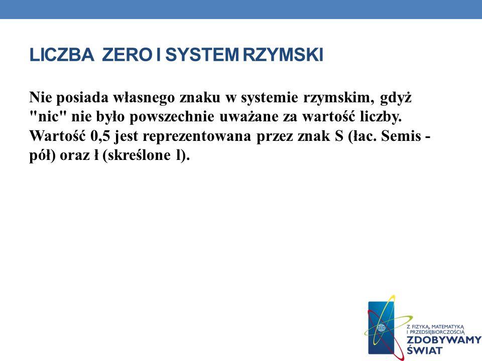 Liczba Zero i System rzymski