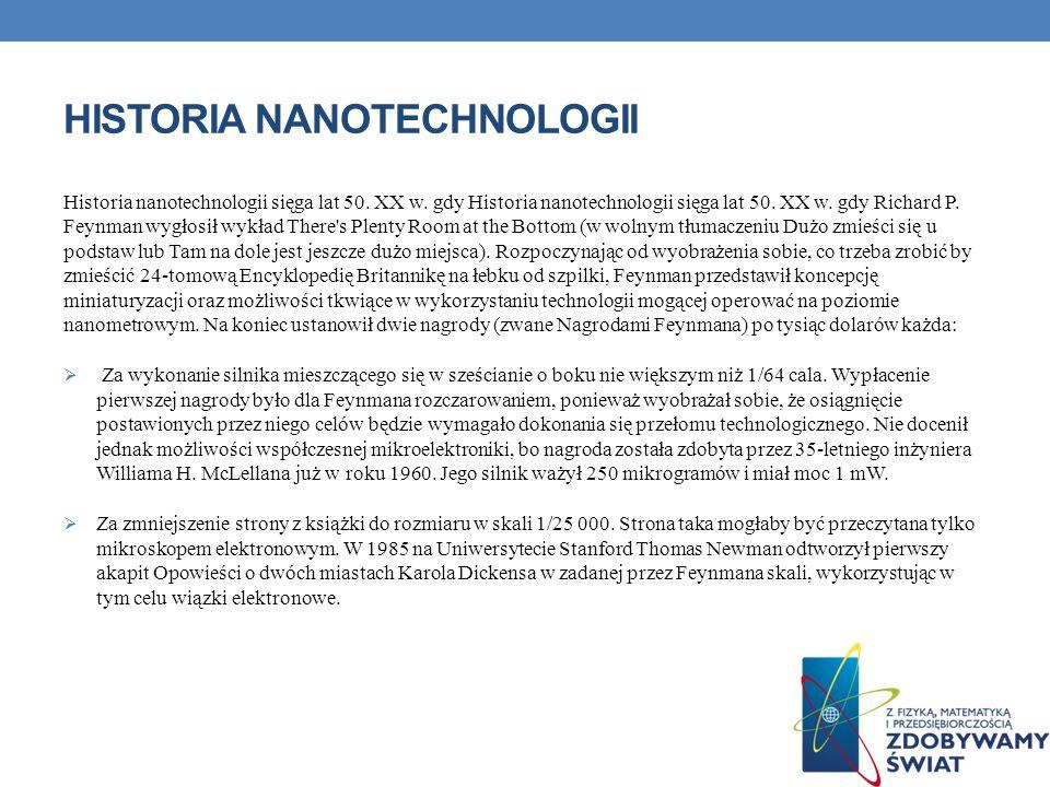 Historia nanotechnologii
