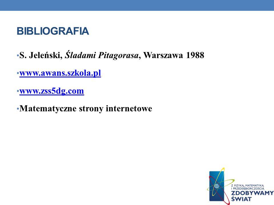 bibliografia S. Jeleński, Śladami Pitagorasa, Warszawa 1988