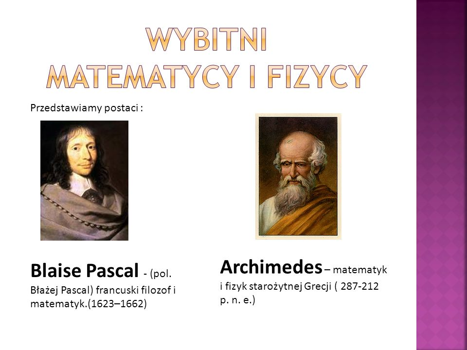 Wybitni matematycy i fizycy