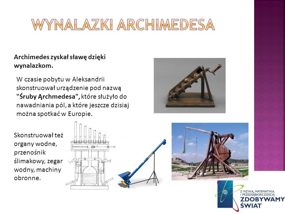 Wynalazki archimedesa