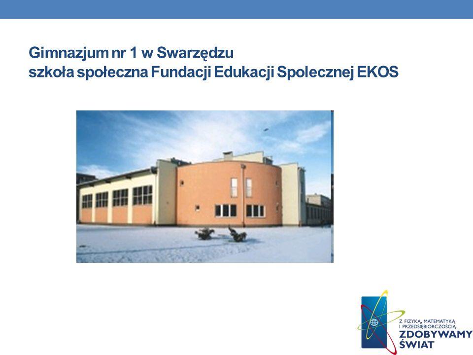 Gimnazjum nr 1 w Swarzędzu szkoła społeczna Fundacji Edukacji Spolecznej EKOS